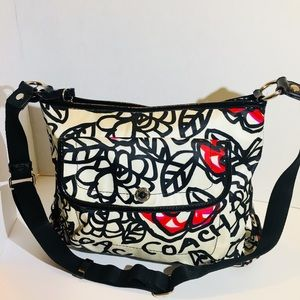 Coach Poppy Graffiti Rose Crossbody Bag